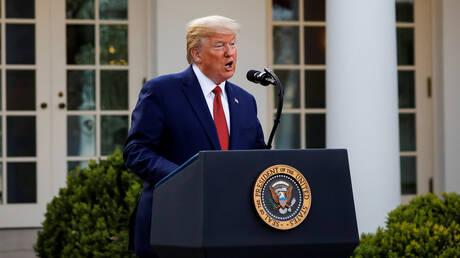 الرئيس الأمريكي، دونالد ترامب