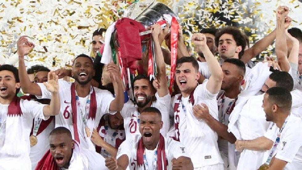 صورة من تتويج المنتخب القطري بكأس آسيا لكرة القدم 2019