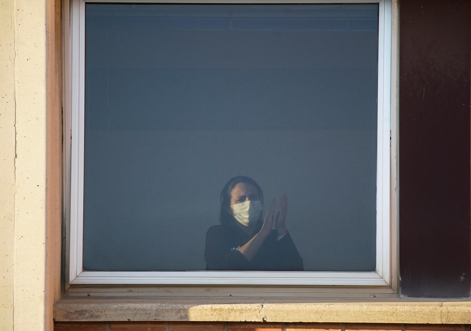 امرأة قيد الحجر الصحي - مدريد
