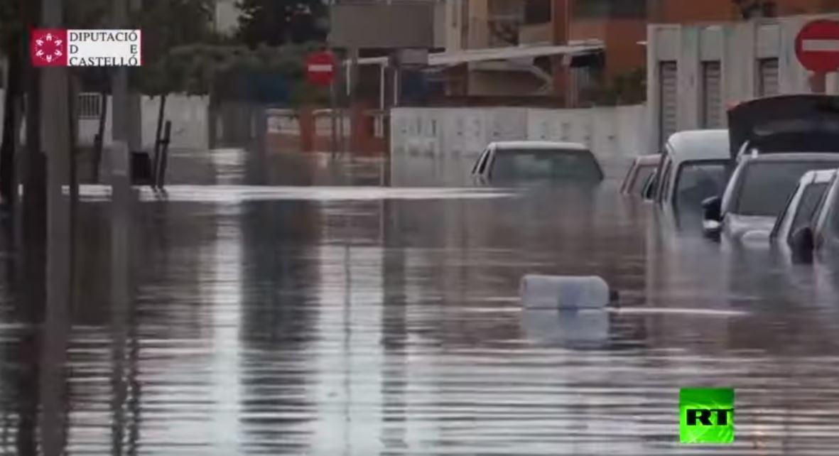 فيضانات عارمة تضرب شرق إسبانيا