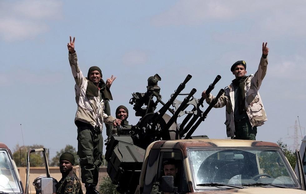 """عناصر من """"الجيش الوطني الليبي"""" (أرشيف)"""