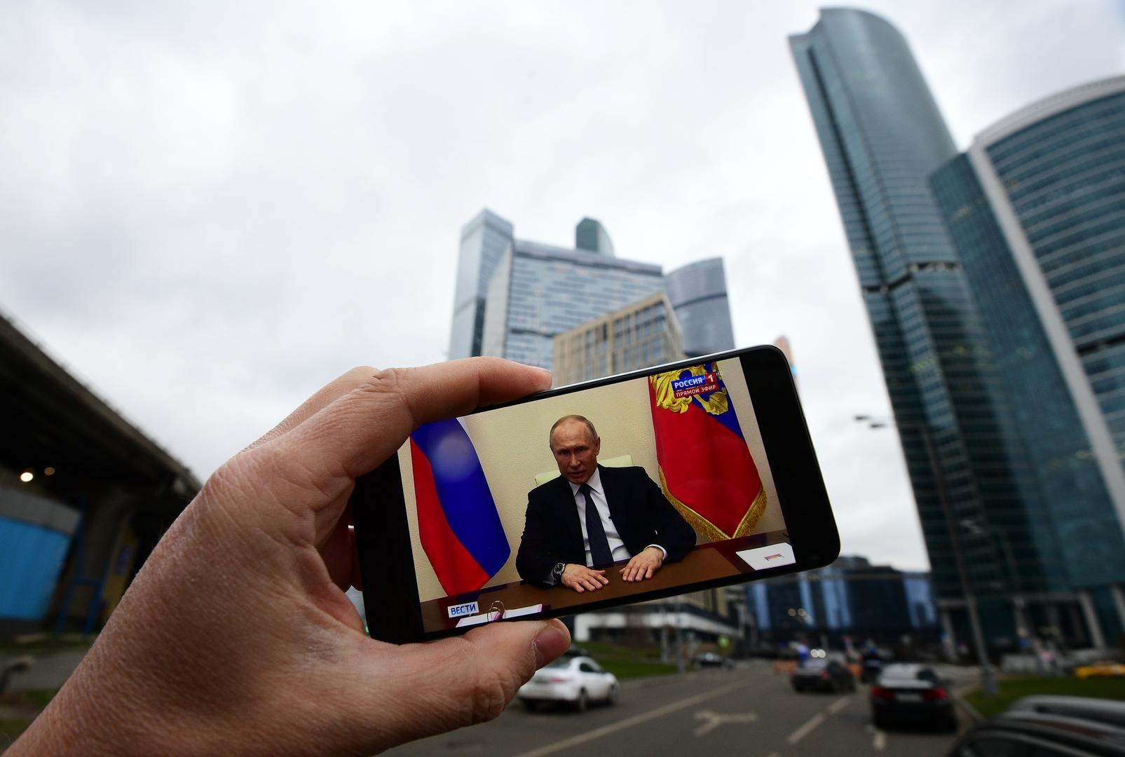 بوتين: خطر كورونا لا يزال قائما وذروته لم تأت بعد في العالم ودولتنا