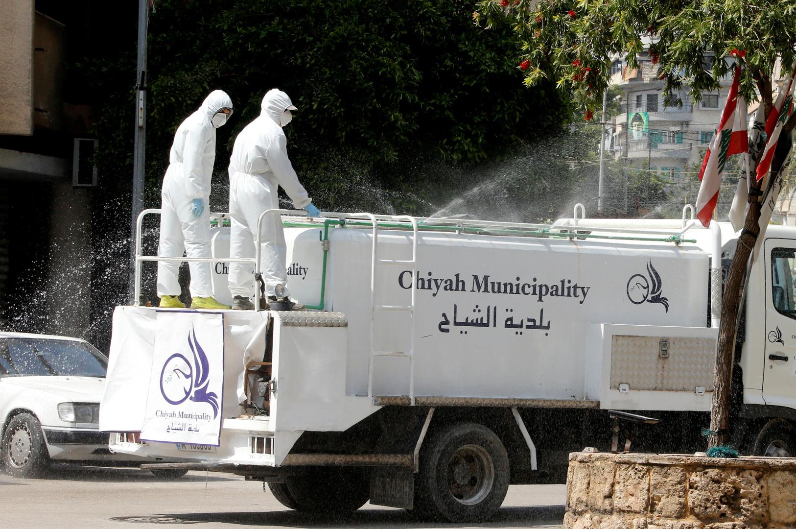بلدية الشياح غرب بيروت تقوم بأعمال تعقيم
