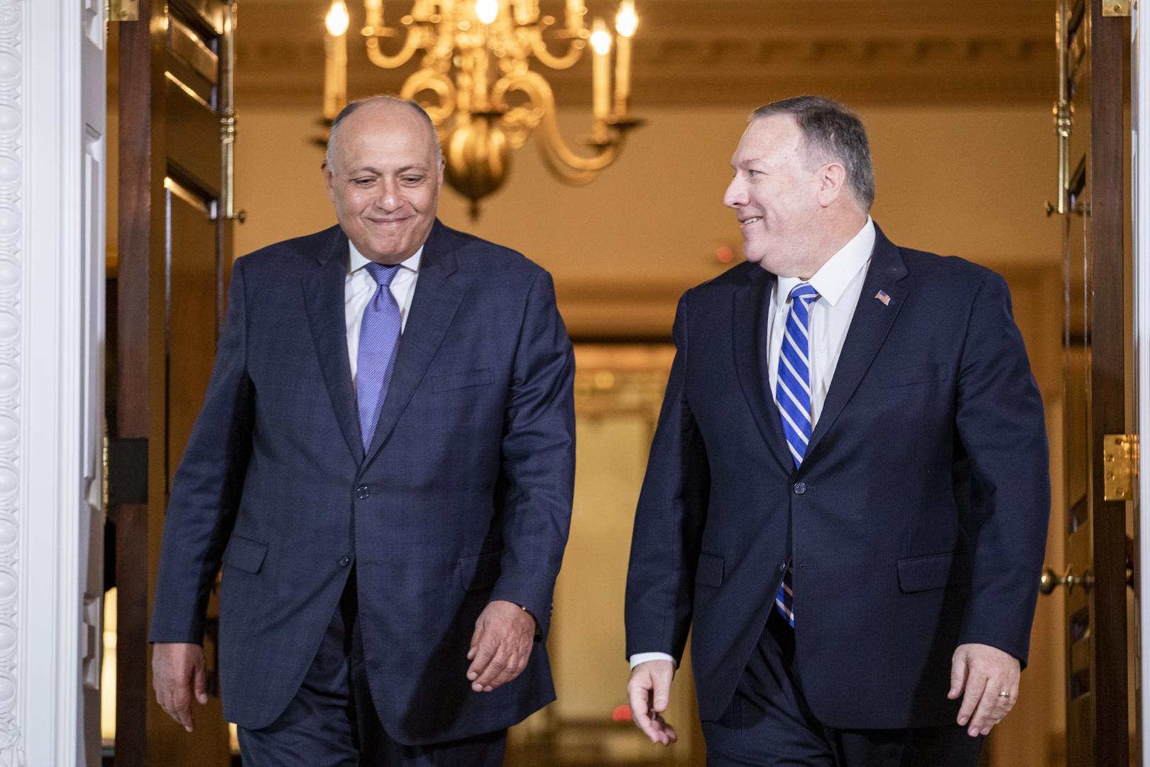 وزيرا الخارجية المصري، سامح شكري، والأمريكي، مايك بومبيو