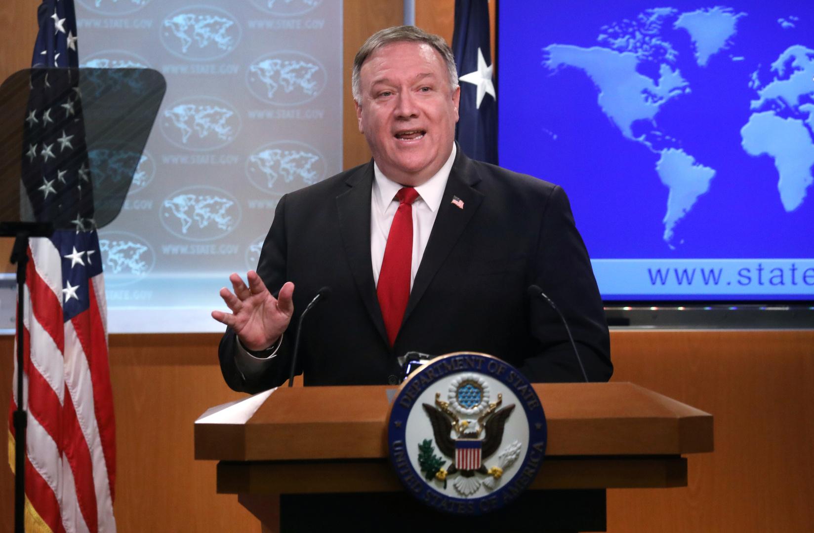 بومبيو: واشنطن تتفق مع استنتاجات منظمة حظر الكيميائي بشأن سوريا