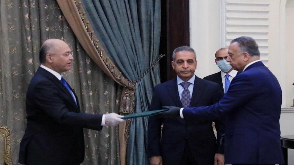 الرئيس العراقي برهم صالح يكلف مصطفى الكاظمي بتشكيل الحكومة