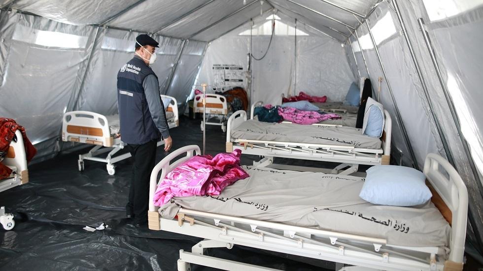 مخيم للحجر الصحي في معبر رفح