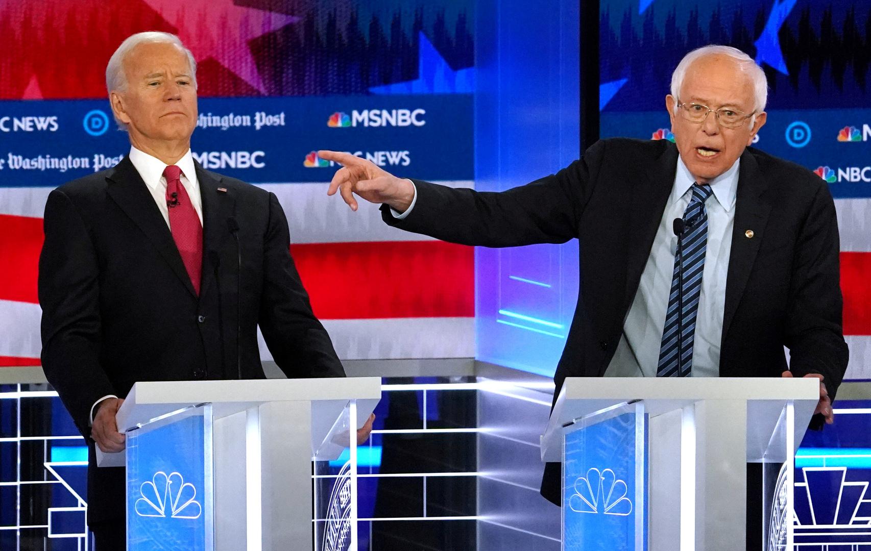 ساندرز يعلن تأييده لبايدن في السباق الرئاسي