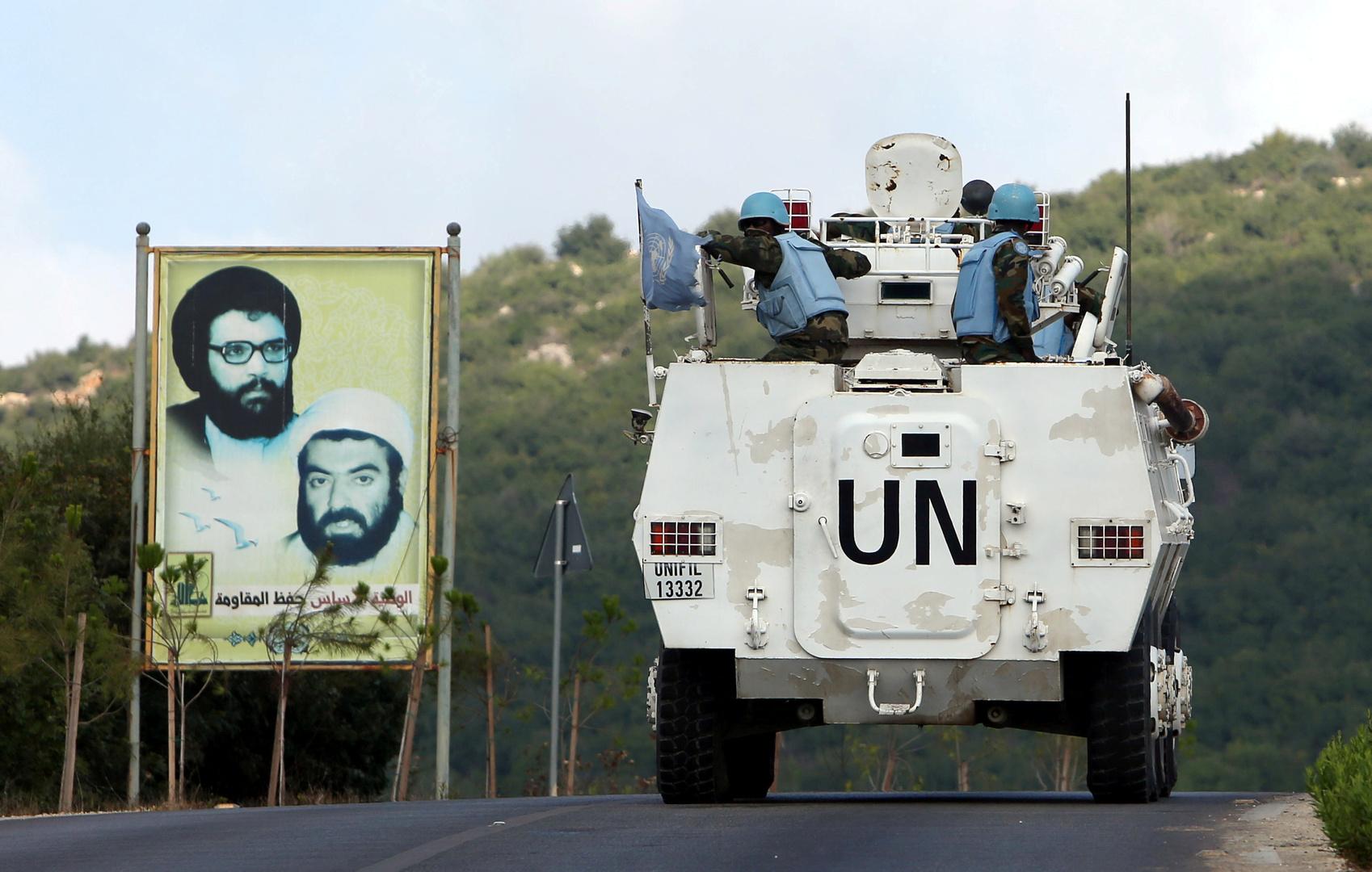 آلية لقوات اليونيفيل جنوب لبنان