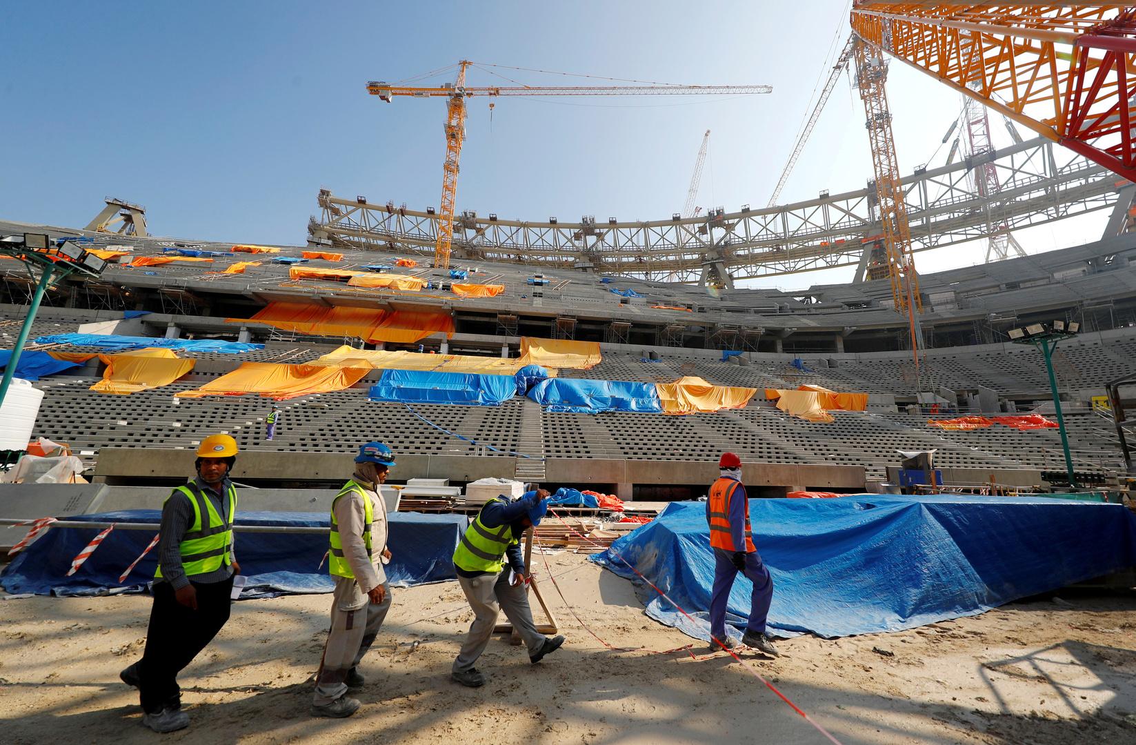 ملعب لوسيل قيد الإنشاء لكأس العالم لكرة القدم 2022/ الدوحة