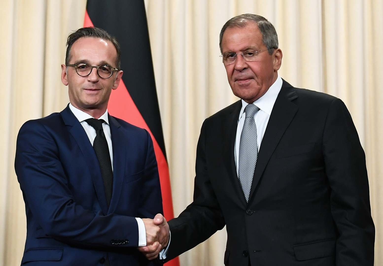 وزيرا الخارجية الروسي سيرغي لافروف والألماني هايكو ماس - صورة أرشيفية
