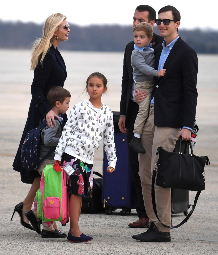 إيفانكا ترامب تخرق التوجيهات الفدرالية في واشنطن وتسافر مع عائلتها