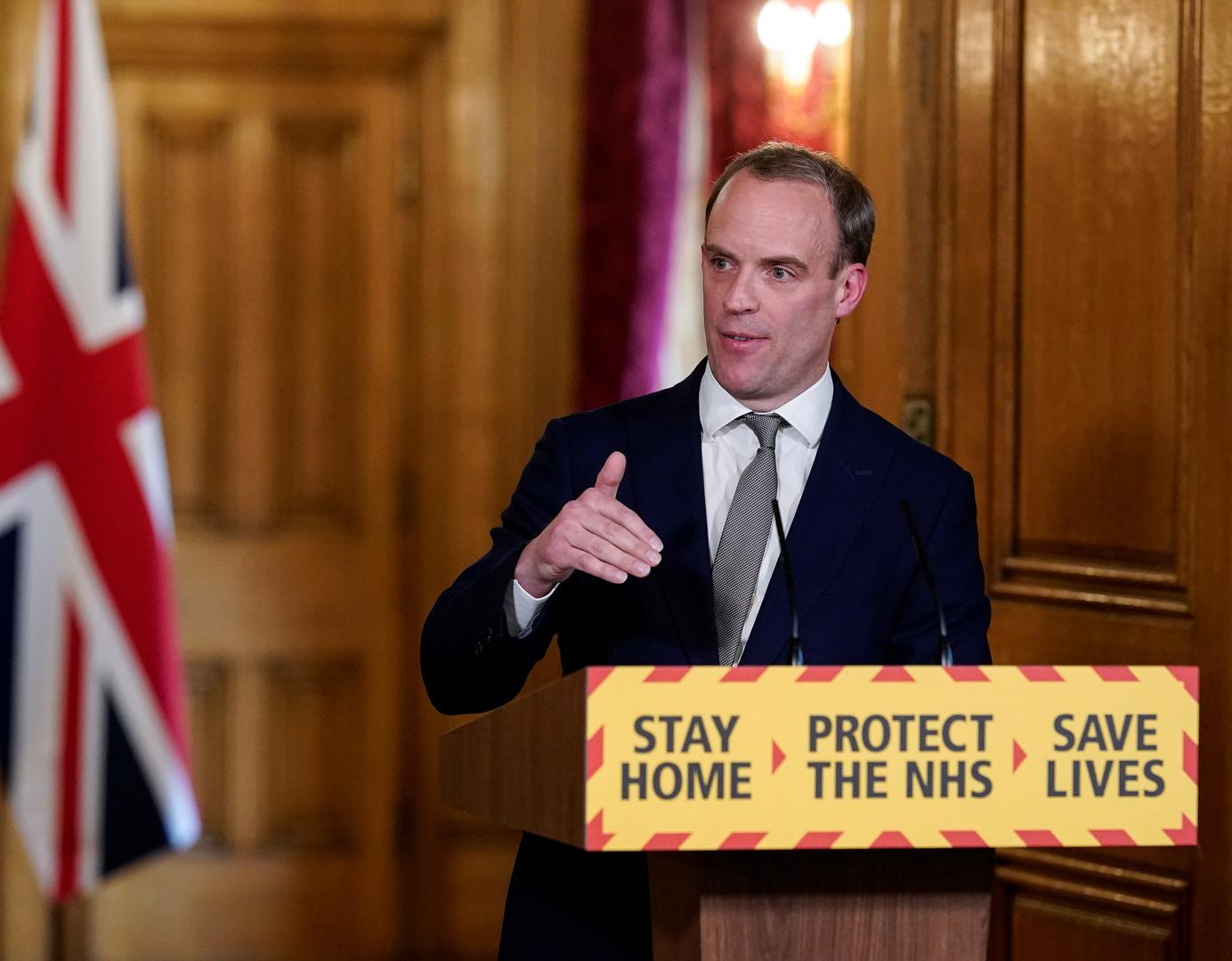 وزير الخارجية البريطاني، دومينيك راب