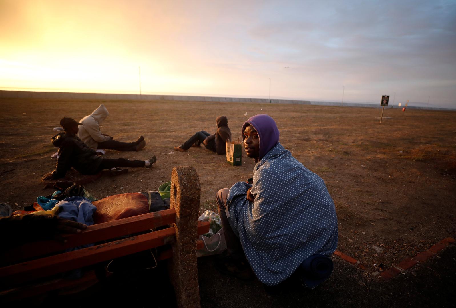 مشردون في مدينة كيب تاون - جمهورية جنوب إفريقيا