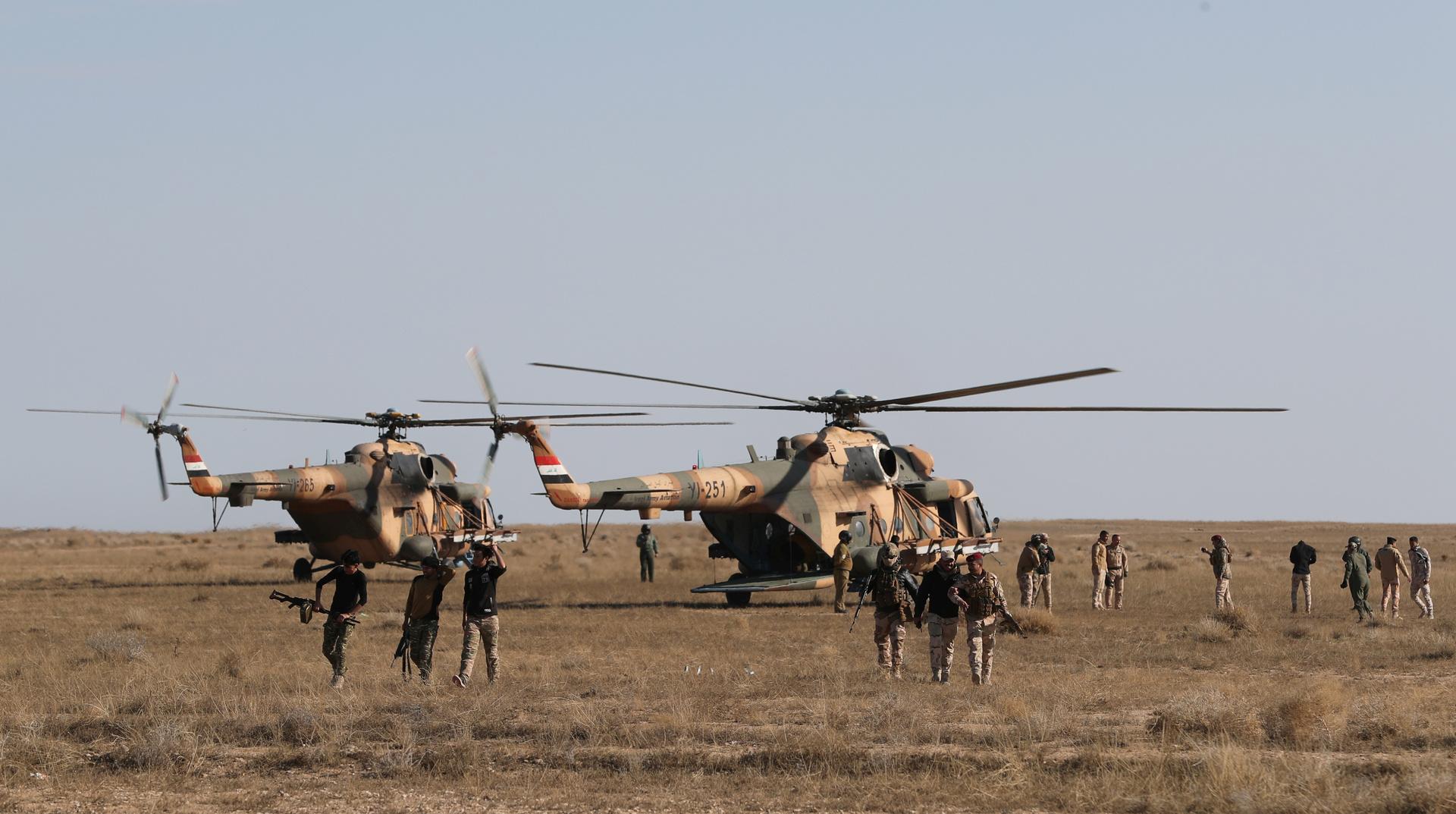 عناصر الأمن العراقي في محافظة الأنبار