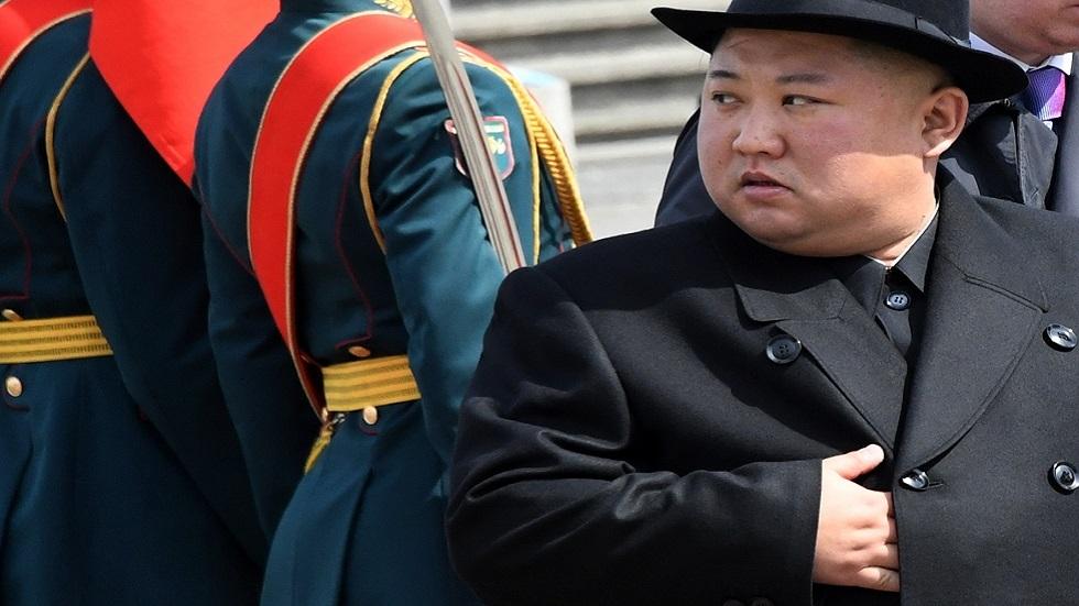 زعيم كوريا الشمالية كيم جونغ أون خلال زيارته إلى مدينة فلاديفوستوك في أقصى الشرق الروسي في أبريل عام 2019