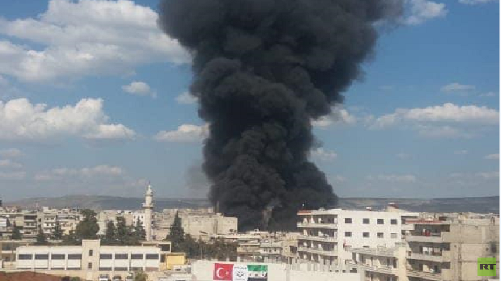 مراسلنا: تفجير في السوق الشعبي بمدينة عفرين (فيديو)