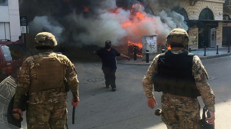 الاحتجاجات في طرابلس بلبنان