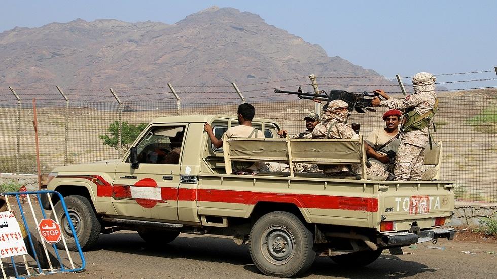 عناصر قوة أمنية تابعة للمجلس الانتقالي الجنوبي في اليمن