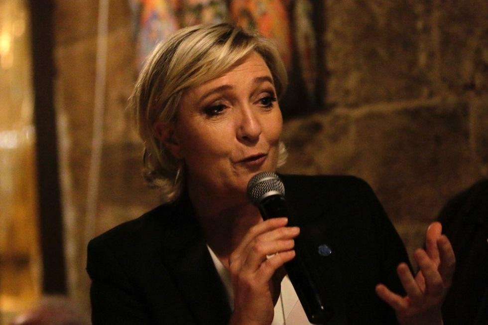 الزعيمة اليمينية الفرنسية مارين لوبان