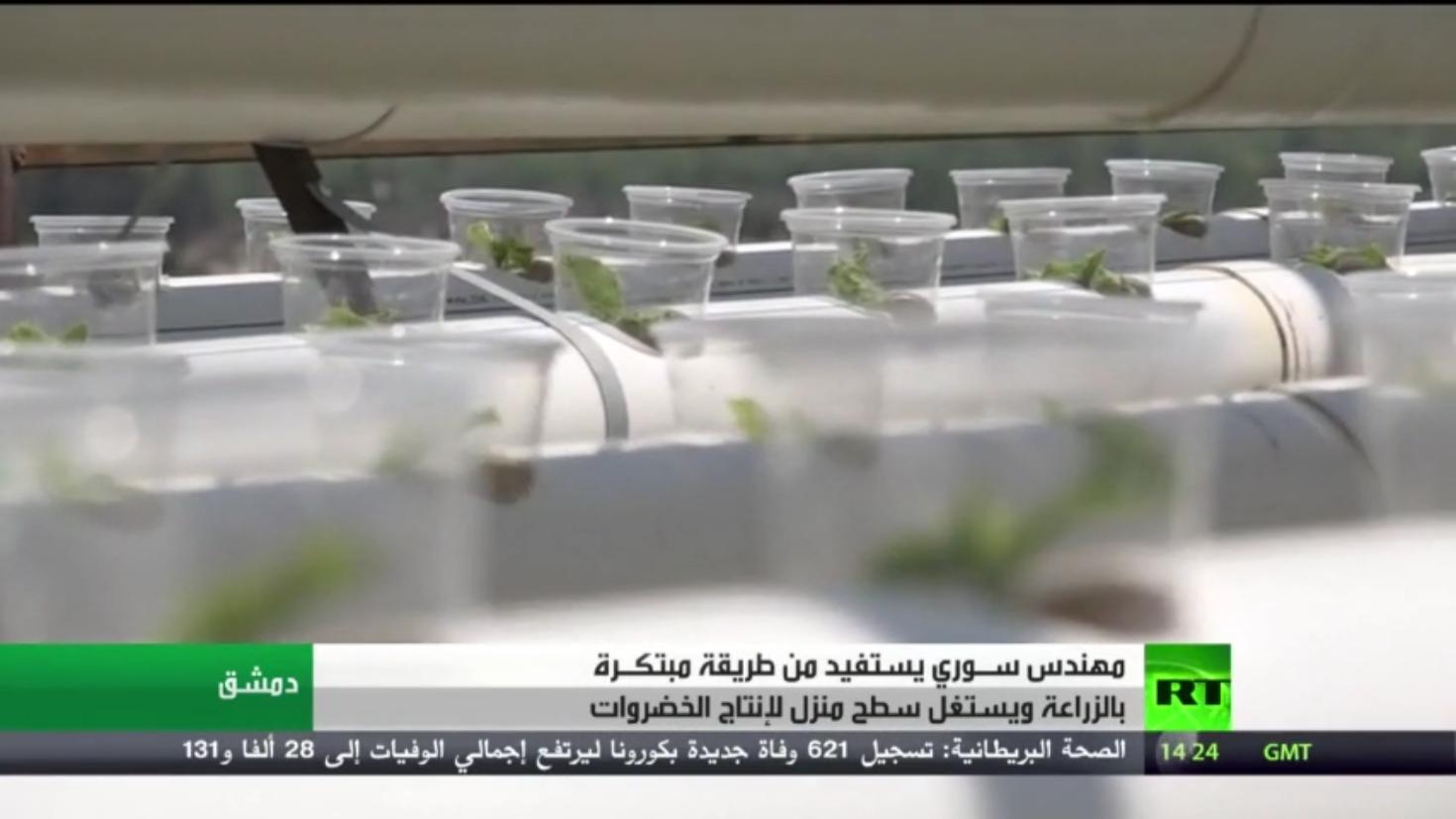 مهندس سوري يلجأ لطريقة مبتكرة بالزراعة