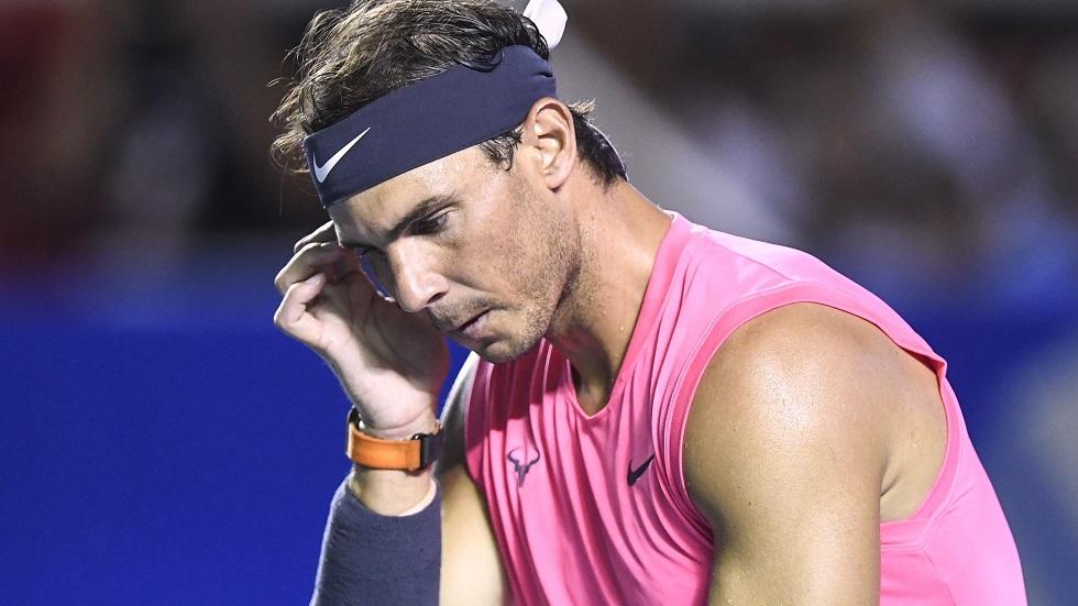 توقعات متشائمة لنادال بشأن عودة منافسات التنس