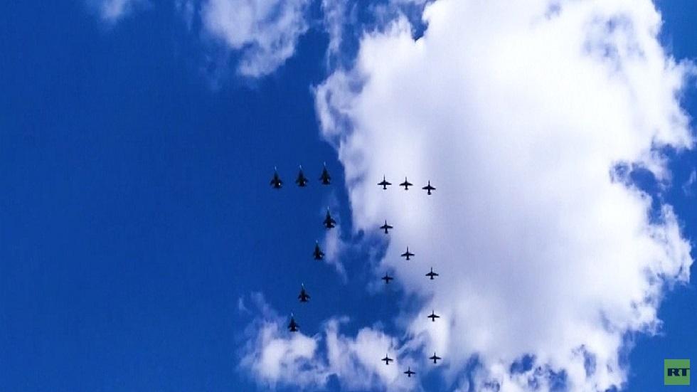 سرب القوات الجوية الروسية يستعد ليوم النصر