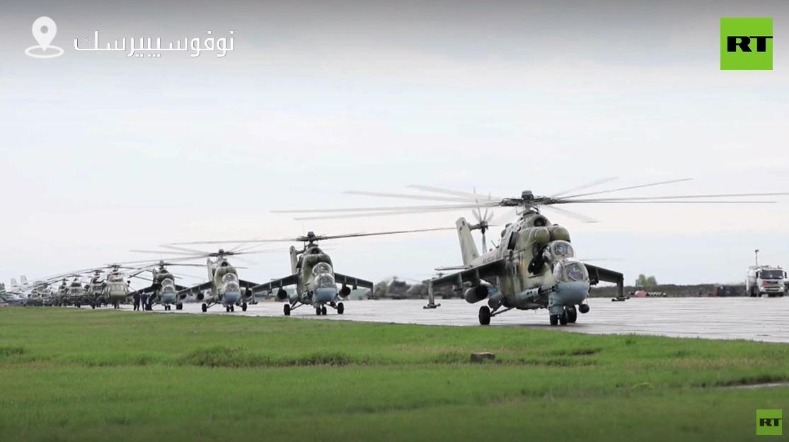 شاهد استعدادات القوات الجوية للاستعراض العسكري في نوفوسيبيرسك