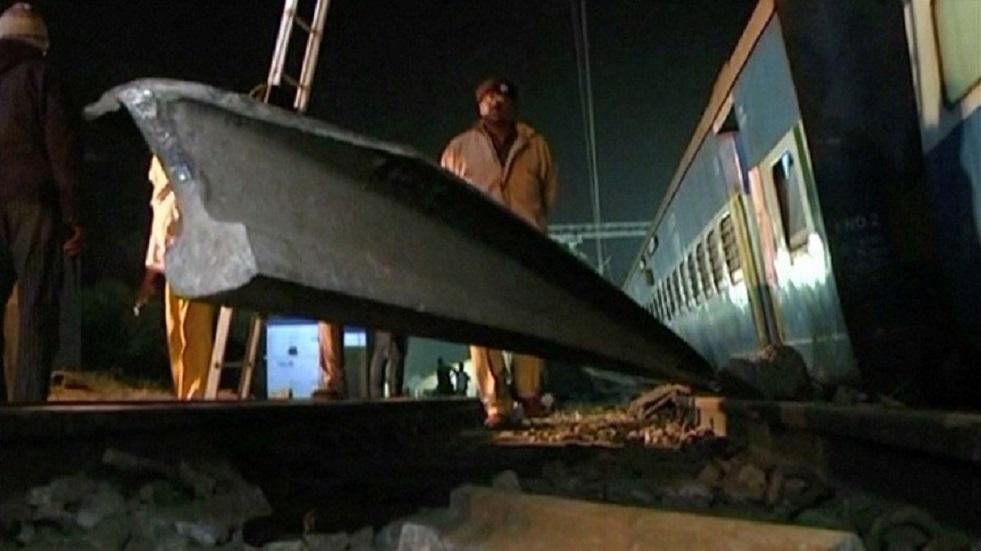 صورة أرشيفية لحادث قطارات في الهند