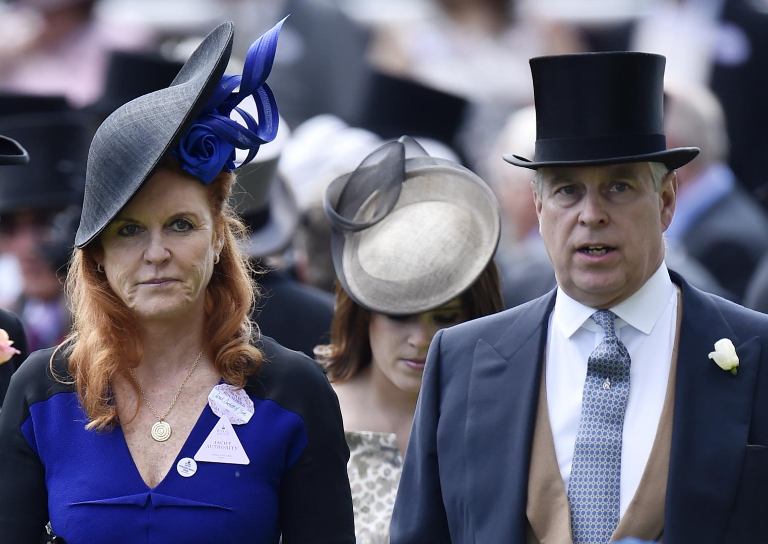 الأمير البريطاني أندرو وزوجته السابقة سارة فيرغسون