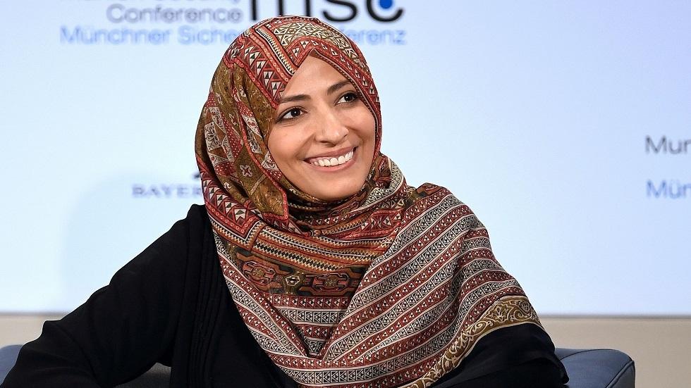 الناشطة اليمينة توكل كرمان