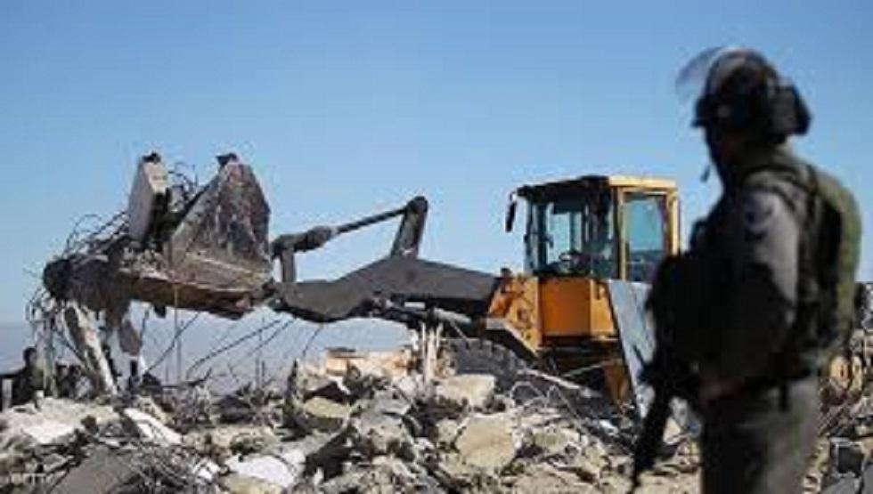 تنديد رسمي وشعبي بهدم إسرائيل منزل مواطن فلسطيني
