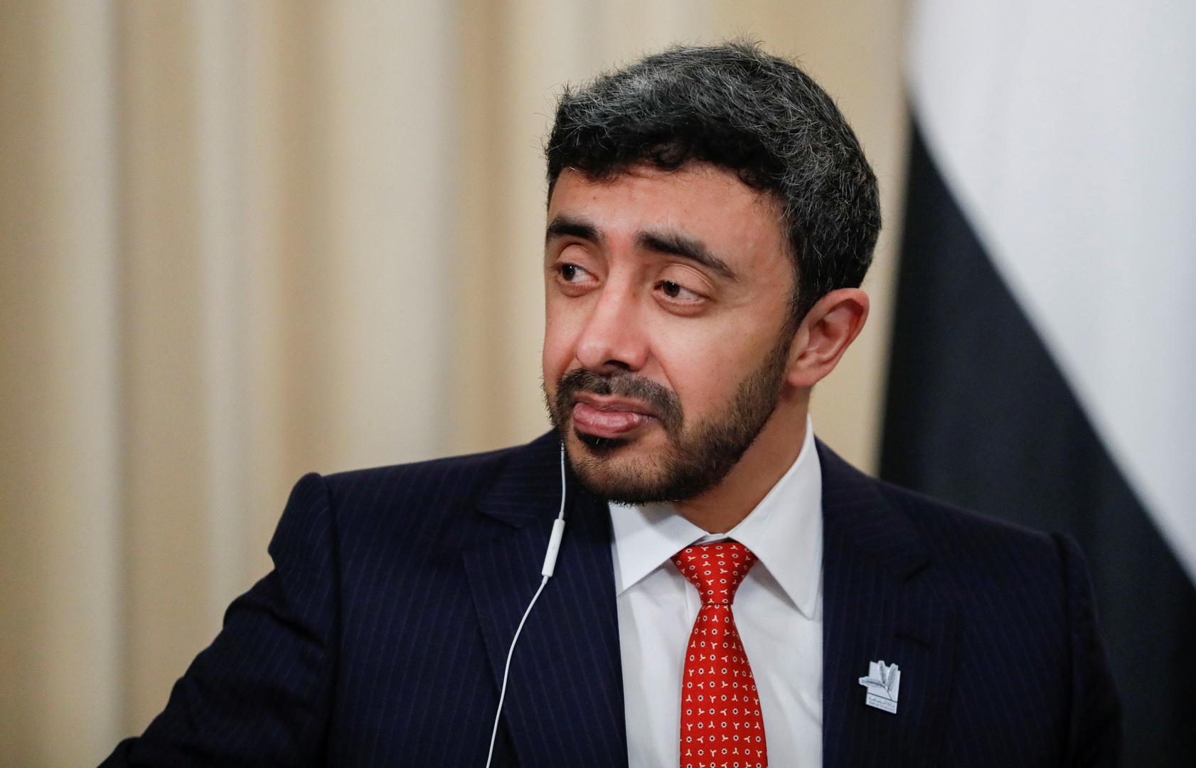 وزير الخارجية الإماراتي، عبد الله بن زايد آل نهيان.