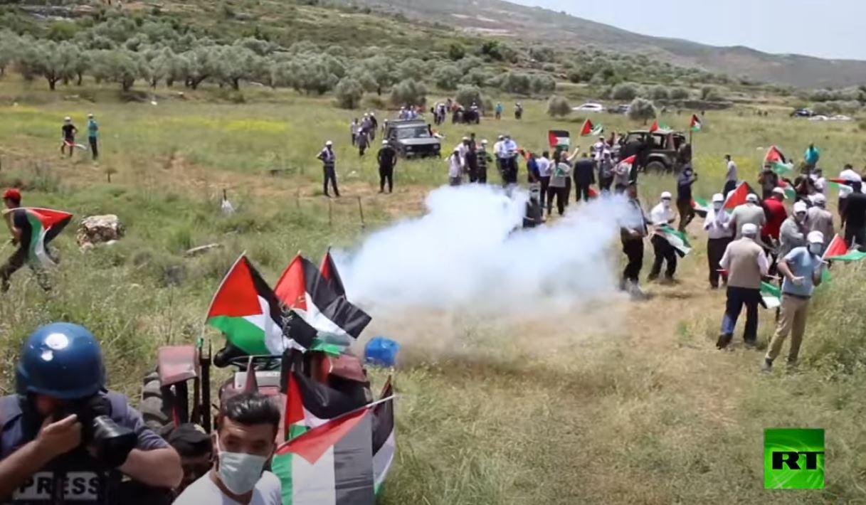اشتباكات بين الجيش الإسرائيلي ومتظاهرين في ذكرى النكبة
