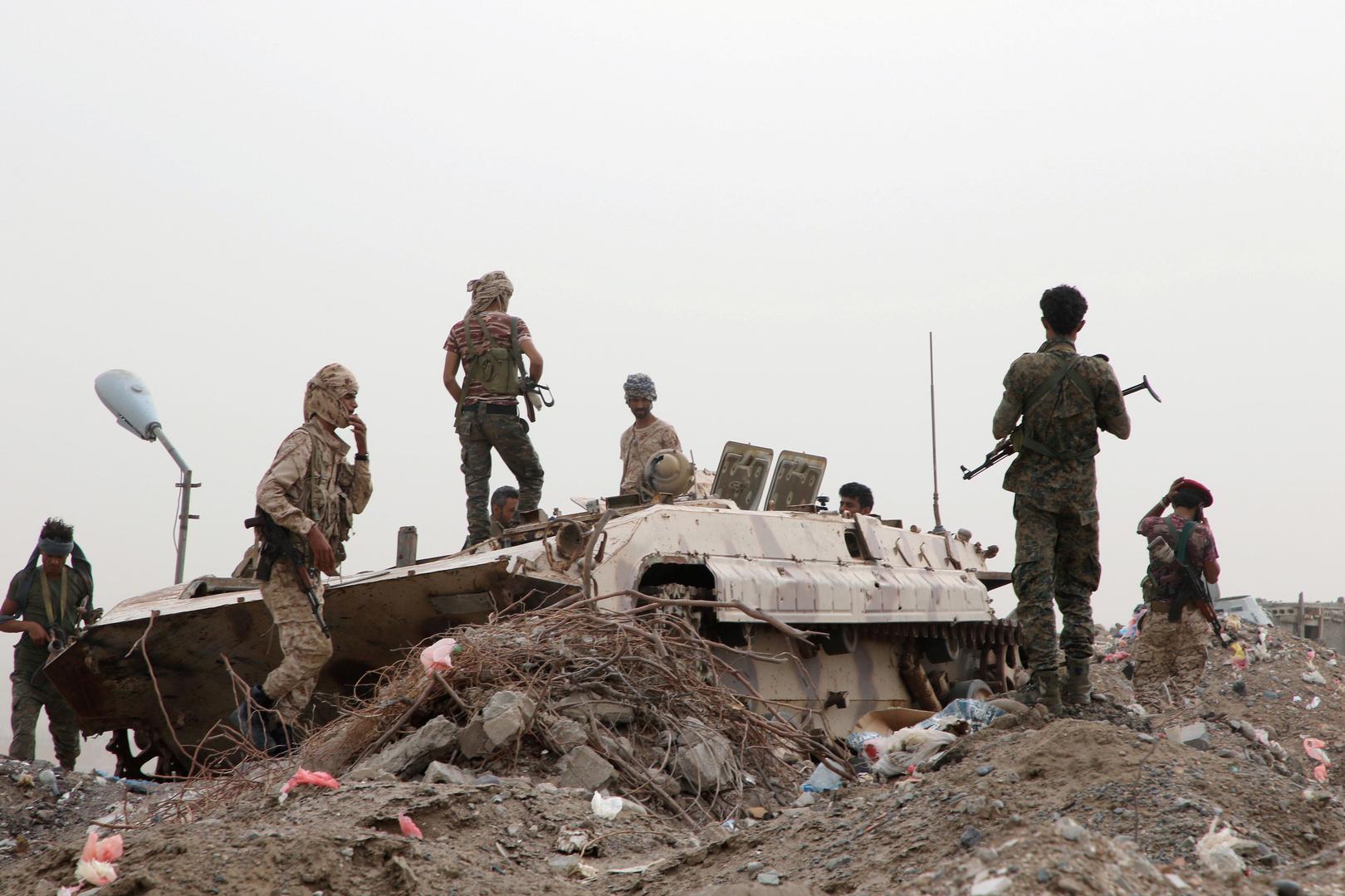 عناصر من قوات المجلس الانتقالي الجنوبي في اليمن.