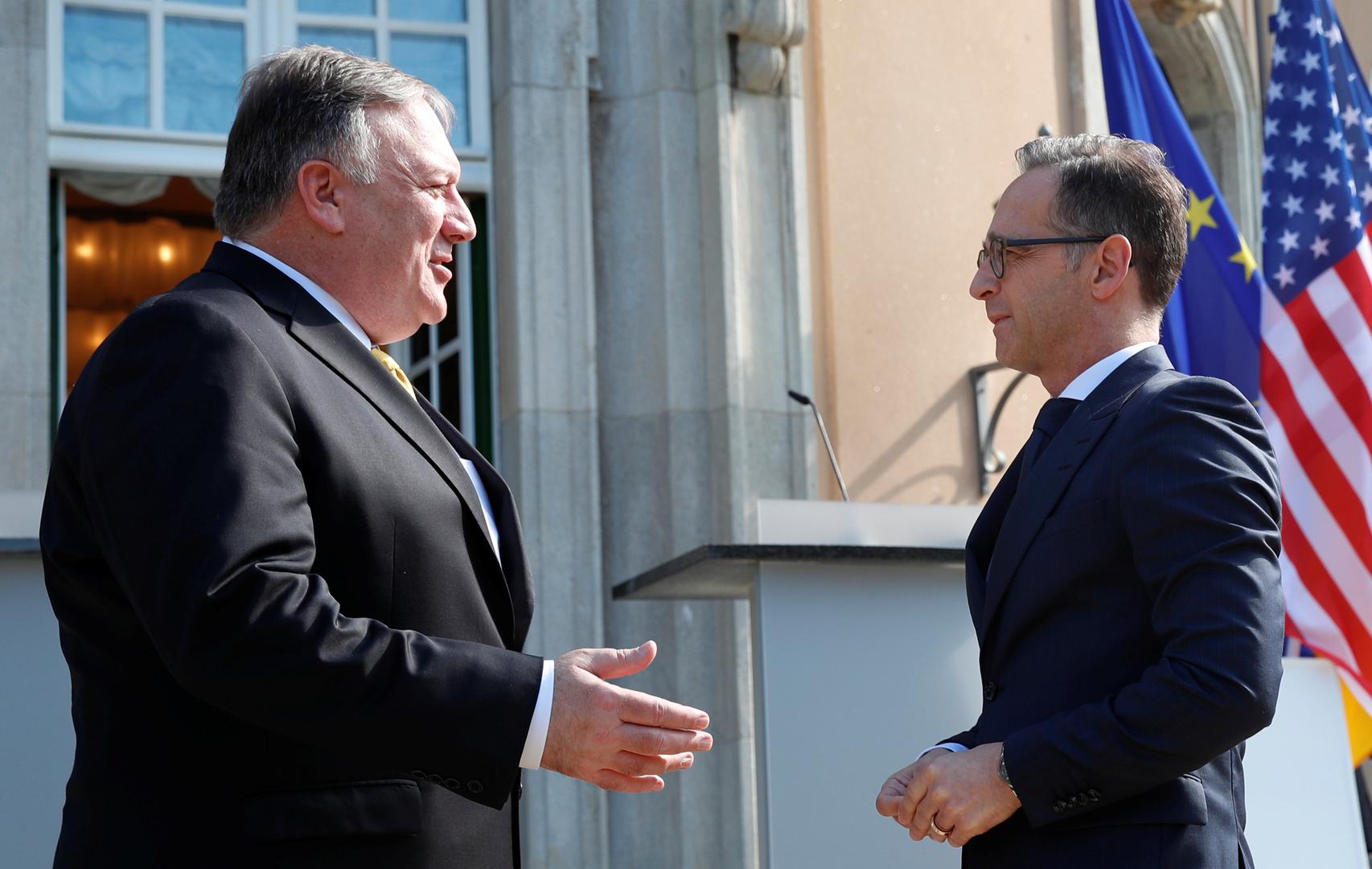 بومبيو وماس يبحثان مكافحة كورونا والأزمة الأوكرانية وقضية إيران