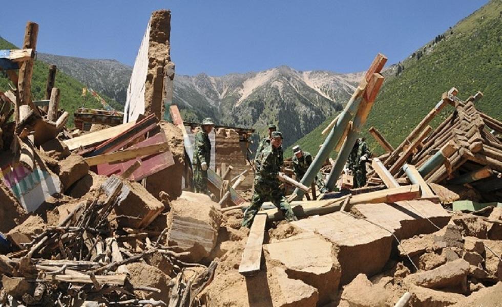 قتلى وجرحى في زلزال ضرب الصين