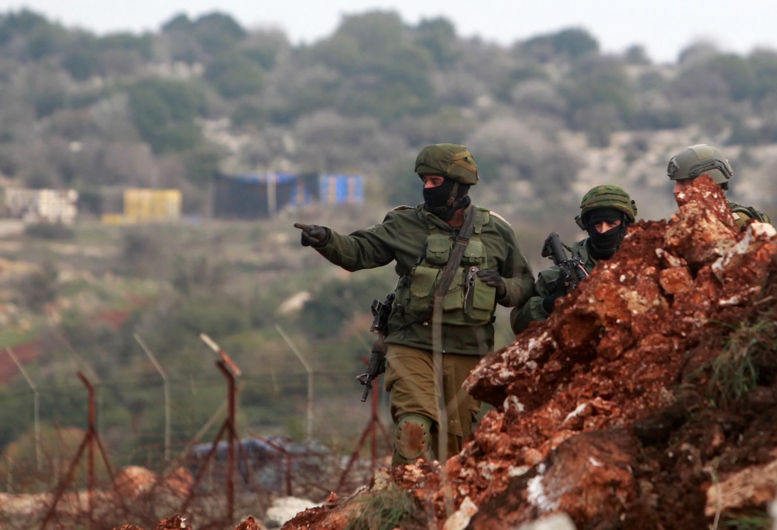 عناصر من الجيش الإسرائيلي في المنطقة الحدودية مع لبنان.
