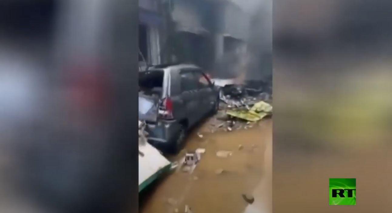 أول لقطات من مكان مأساة الباكستانية