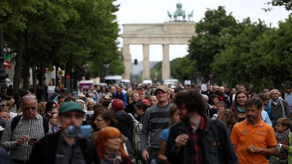مظاهرة ضد قيود كورونا في برلين