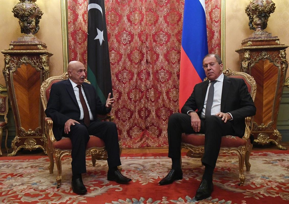 وزير الخارجية الروسي سيرغي لافروف، ورئيس مجلس النواب الليبي عقيلة صالح - أرشيف