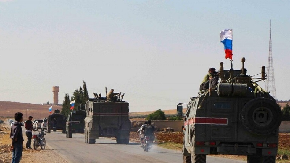رتل عسكري روسي في شمال شرق سوريا- أرشيف