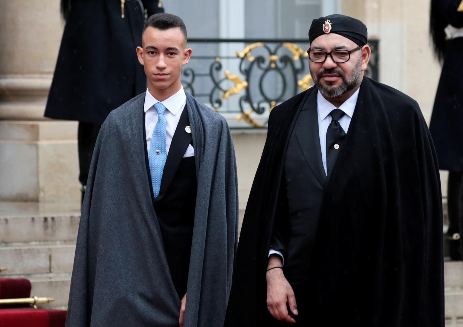 الملك محمد السادس وولي عهده
