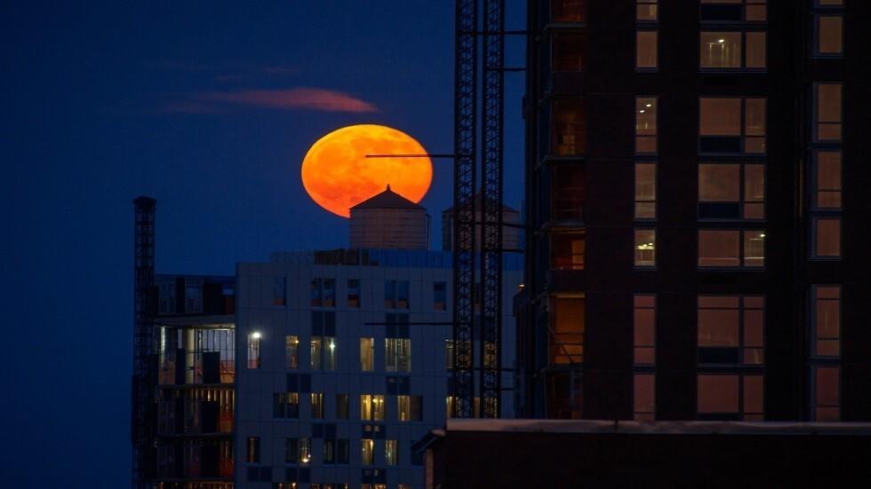 قمر الفراولة الكامل يضيء سماء الأرض بالتزامن مع