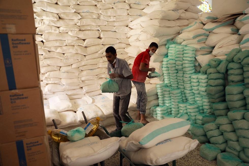 مساعدات غذائية في صنعاء باليمن