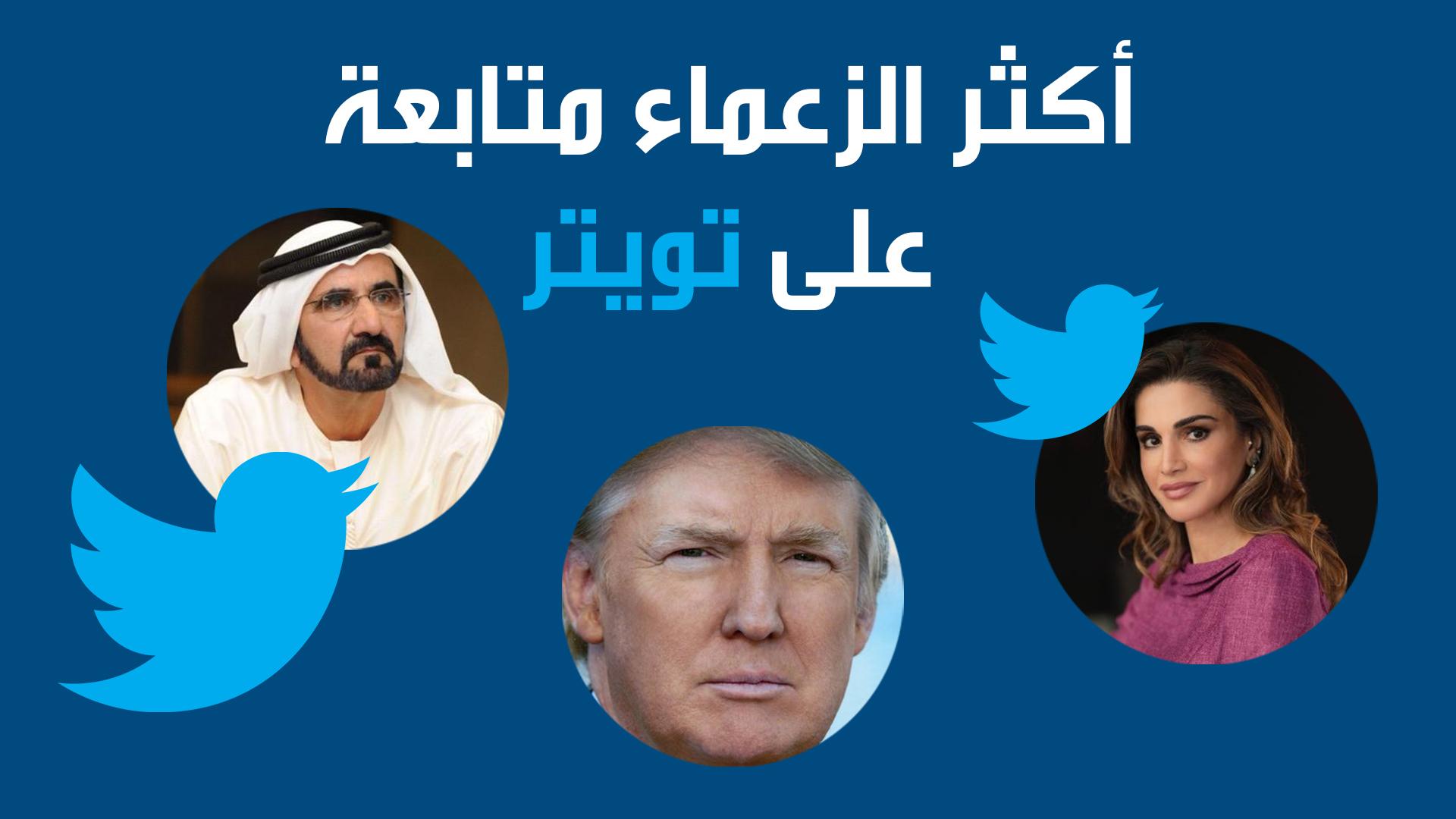 أكثر الزعماء متابعة على تويتر
