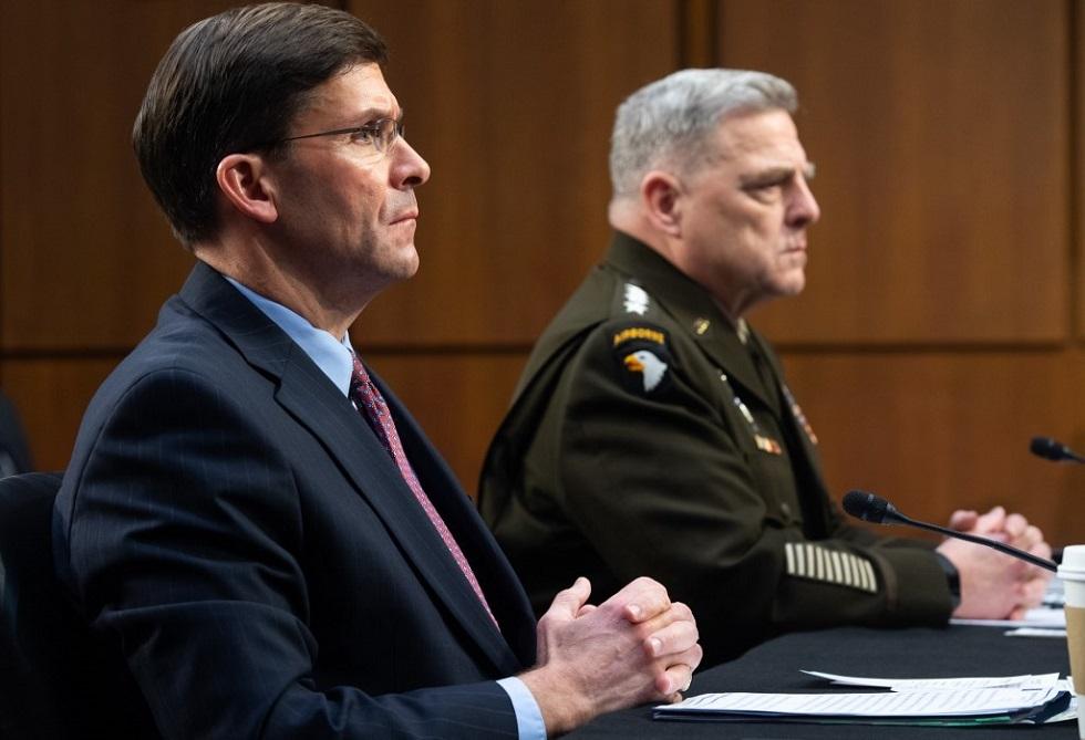نواب أمريكيون ينتقدون وزير الدفاع ورئيس الأركان لرفضهما المساءلة