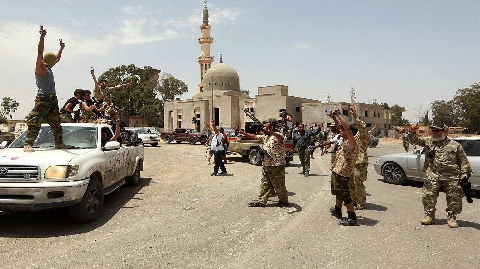 عناصر تابعون لقوات حكومة الوفاق الليبية في طرابلس - أرشيف
