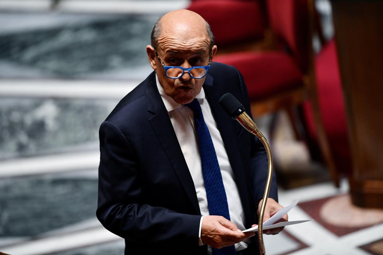 وزير الخارجية الفرنسي، جان إيف لودريان.