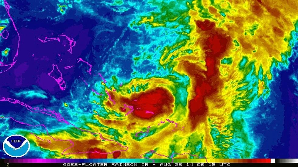 صورة نشرتها وكالة ناسا الفضائية للعاصفة الاستوائية كريستوبال
